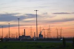 Sunset, suburbs of St.Petersburg. Stock Photos