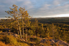 Sunset on Sugarloaf Mountain, Marquette County, Michigan, USA Stock Photo