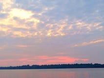 Sunset at Sumatra Island. Awesome horizon taken from boat Stock Image