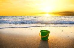 Sunset on summer beach. Royalty Free Stock Photo