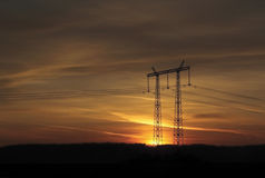 Sunset. Summer sunset and beautiful sky Stock Photos