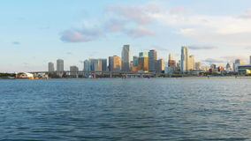 Sunset summer miami downtown famous pier panorama 4k usa. Usa sunset summer miami downtown famous pier panorama 4k stock video footage