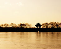 Sunset in The Summer Palace Royalty Free Stock Photos