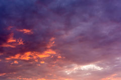 Sunset Summer Sky Stock Photos