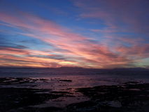 Sunset. Summer sunset Strand Beach Western Cape stock image
