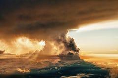 Sunset at the summit of Mauna Kea Stock Photos