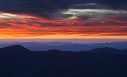 Sunset from the summit of Mount Mitchell Royalty Free Stock Photo
