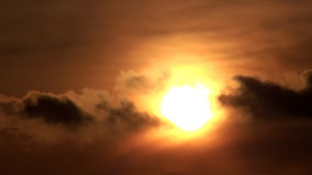 Sunset Sun And Clouds Timelapse Hd stock video footage