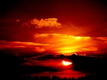 Sunset, Sun, Fire, Sky, Red Royalty Free Stock Images