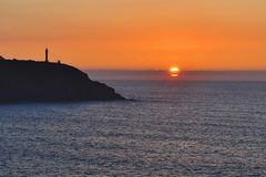 Sunset. Sun heat sunset Stock Image