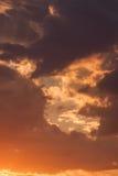 Sunset - the sun hidden Stock Images