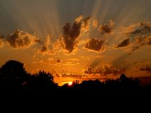 Sunset, Sun, Nature, Sky, Orange Royalty Free Stock Photo
