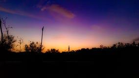 Sunset. Sun Palestine night Stock Photo