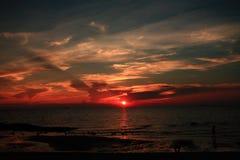 Sunset. Sun sea shadow water relax resort hotel Stock Photos