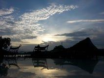 Sunset. Sun sky mountain Stock Image