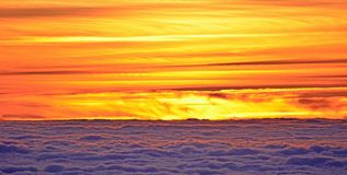 Sunset, Sun, Twilight, Clouds Royalty Free Stock Photography