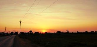 Sunset Sunbeam Royalty Free Stock Photo
