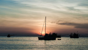 Sunset. Sundown sea ocean sky royalty free stock photo