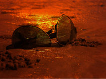 Sunset Sunglasses Royalty Free Stock Image