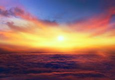 Sunrise . Light from sky . Religion background . Sunset . Sunlight pierces through the clouds . Background sky at sunset and dawn . Flare royalty free stock photos