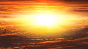 Sunrise . Light from sky . Religion background . Sunset . Sunlight pierces through the clouds . Background sky at sunset and dawn . Flare stock photo