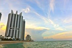 Sunset in Sunny Islands, Miami Stock Photos