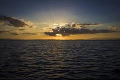 Sunset sunray Stock Image