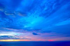Sunset/sunrise. Over the sea Stock Image