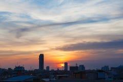 Sunset and Sunrise of Asia Royalty Free Stock Image