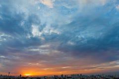 Sunset and Sunrise of Asia Stock Image