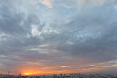Sunset and Sunrise of Asia Royalty Free Stock Photography
