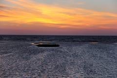 Sunset sunrise on the beach latvia Stock Image