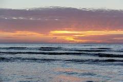 Sunset sunrise on the beach latvia Stock Photos