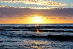 Sunset sunrise on the beach latvia Stock Photo