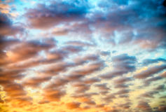 Sunset sunrise beautiful sky colors Royalty Free Stock Photography