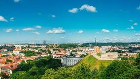 Sunset Sunrise Cityscape Of Vilnius, Lithuania In Stock Image