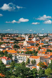 Sunset Sunrise Cityscape Of Vilnius, Lithuania In Royalty Free Stock Photo
