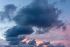 Sunset / sunrise and clouds Royalty Free Stock Images