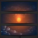 Sunset, Sunrise With Clouds Royalty Free Stock Images