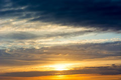 Sunset / sunrise with clouds. Stock Photography
