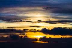 Sunset sunrise colorful bright sky and clouds Royalty Free Stock Photography