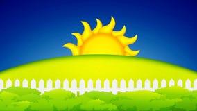 Sunset, sunrise concept animation stock video footage