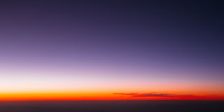 Sunset Or Sunrise Dramatic Sky Over Dark Ground. View From Heigh Royalty Free Stock Images
