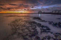 Sunset, sunrise, landscape, nature, sky, sun, seascape, Stock Photography