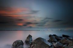 Sunset and sunrise Stock Image