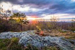 Sunset at Sunrise Mountain overlook Stock Photography