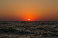 Sunset / Sunrise in ocean Royalty Free Stock Image