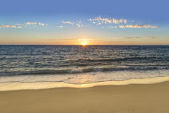Sunset or sunrise over the ocean or sea Royalty Free Stock Photography