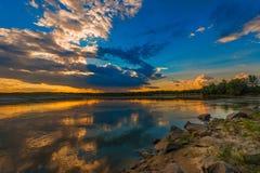 Sunset or sunrise Stock Images