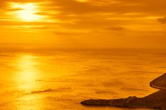 Sunset or sunrise over sea surface Stock Photography